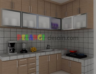 Kitchen Set Meja Beton