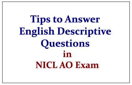 Tips to Prepare for English Descriptive Questions