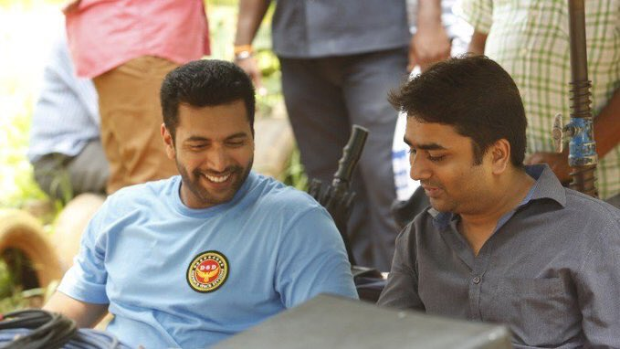 Jayam Ravi's Tik Tik Tik Movie working stills
