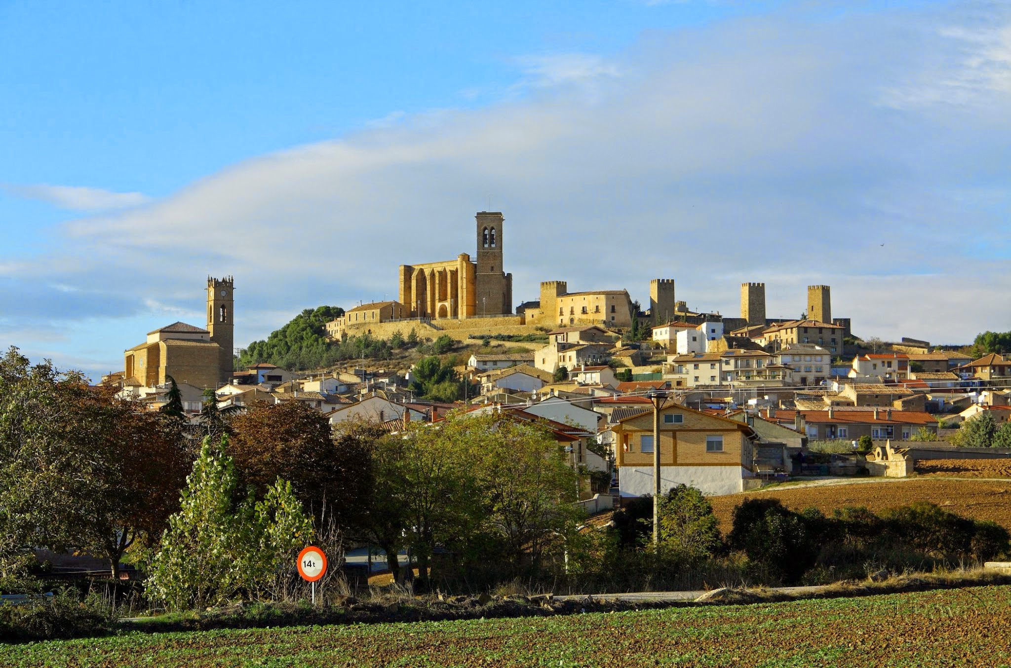 Vista general de Artajona, Navarra