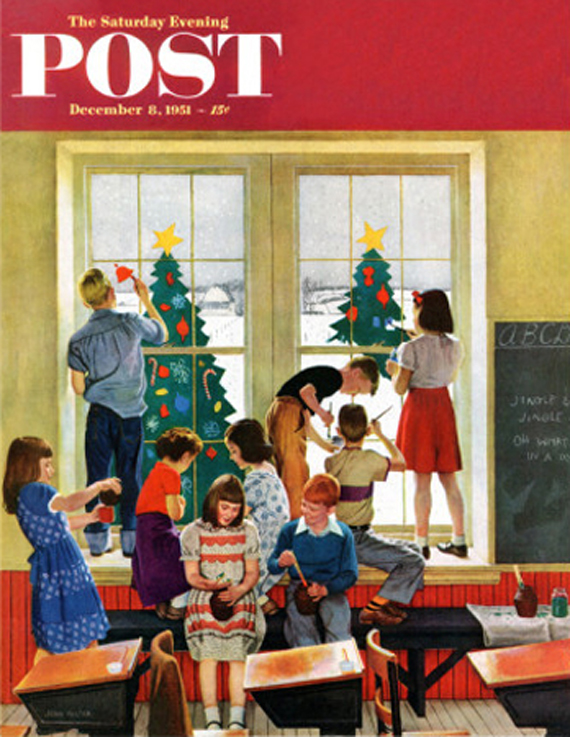 Christmas Saturday Evening Post vintage covers, John Falter