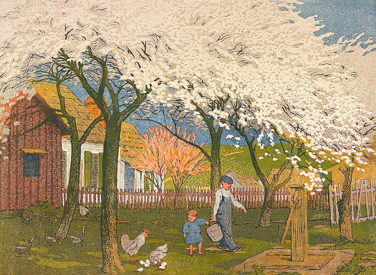 Gustave Baumann - Plum and Peach Bloom 1915