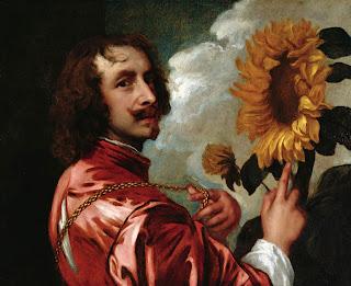 Antón van Dyck - Autorretrato con un girasol