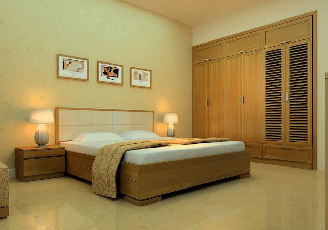 Mẫu giường ngủ được làm bằng gỗ sồi trắng được ưu tiên hơn gỗ sồi đỏ