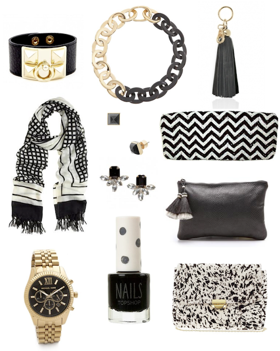 black fashion accessories for fall 2013