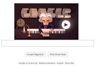 Google Doodgle Rayakan Ulang Tahun Beethoven Ke 245