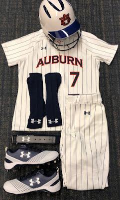 auburn softball 2018 mickey dean uniforms pinstripe pinstripes