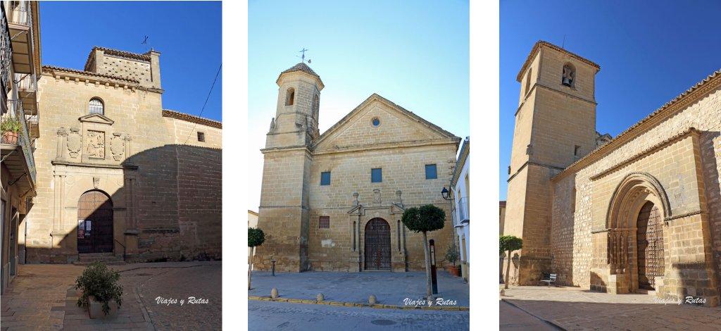 Convento de la Encarnación, la Iglesia de los Trinitarios descalzos, la Iglesia del Salvador. Baeza