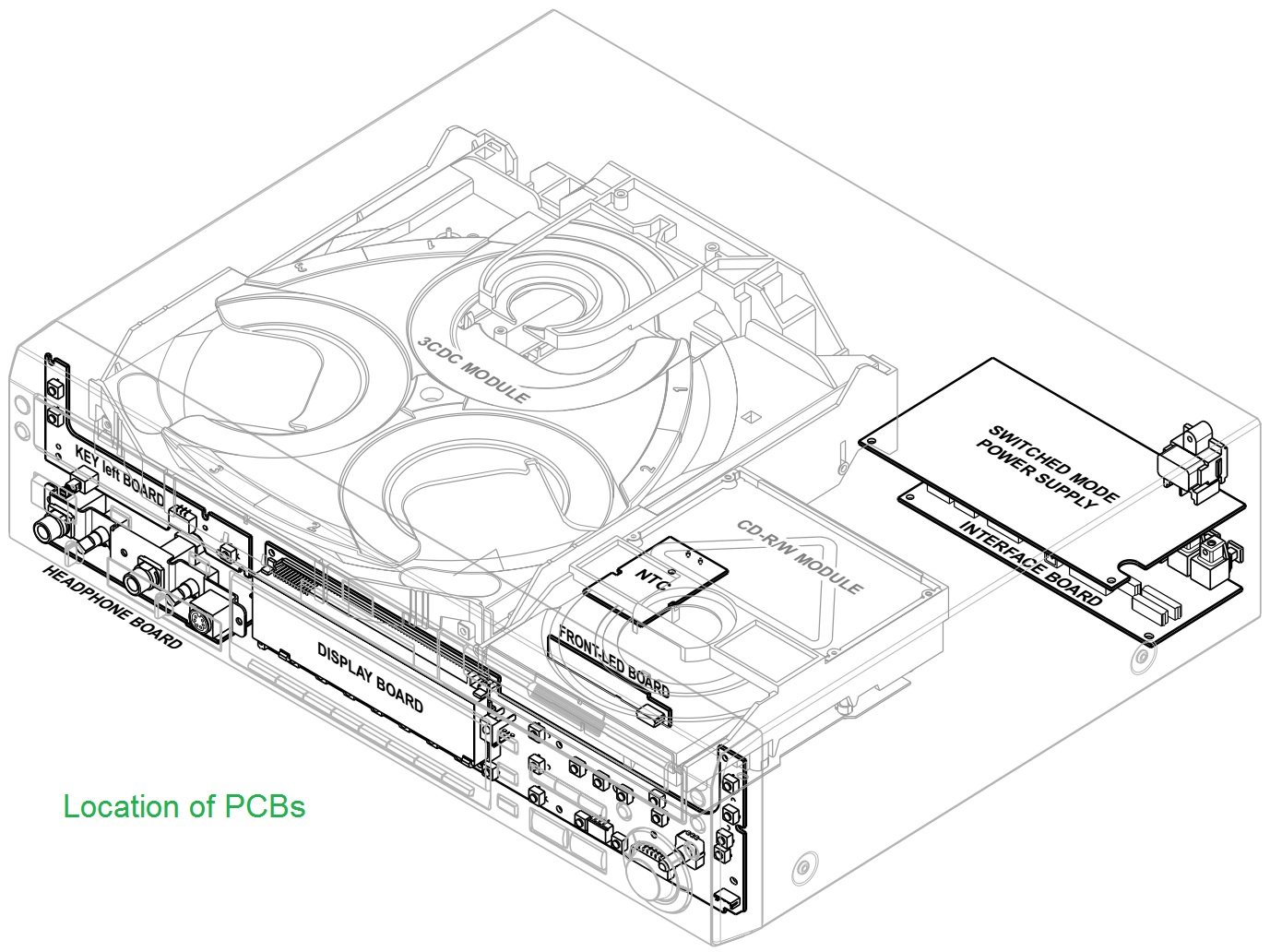 philips cdr800  u2013 smps circuit diagram  u2013 service mode