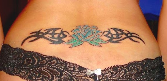 Rose Tattoo On Lower Back