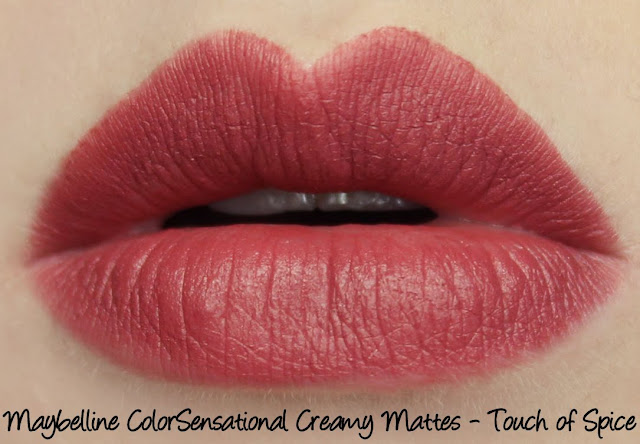 Maybelline Colorsensational Creamy Matte Lipstick - Touch of Spice Swatches & Review