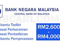 JAWATAN KOSONG TERKINI DI BANK NEGARA MALAYSIA BNM - PELBAGAI JAWATAN / GAJI RM2,600.00 - RM4,000.00