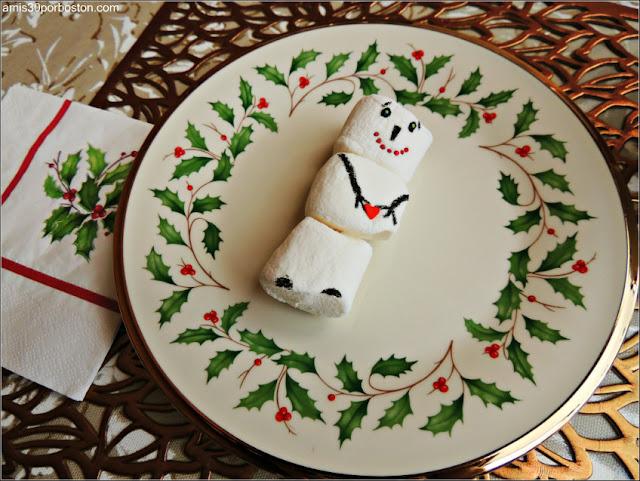 Muñeco de Nieve de Marshmallows