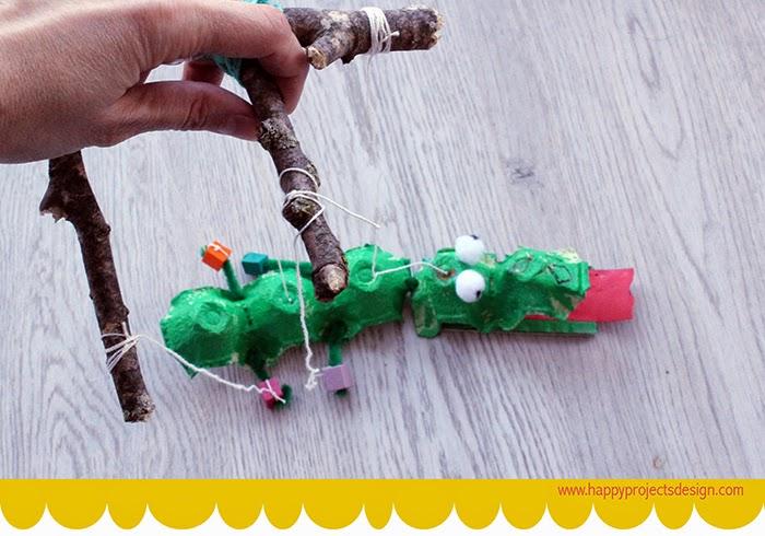 CreaKids: marioneta cocodrilo upcycling