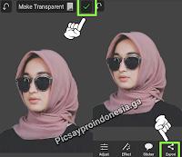 Cara Menghilangkan Background Foto di Picsay pro