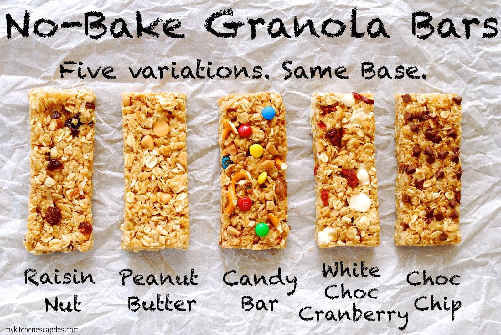 No Bake Granola Bars Recipe Chewy Granola Bar Recipe