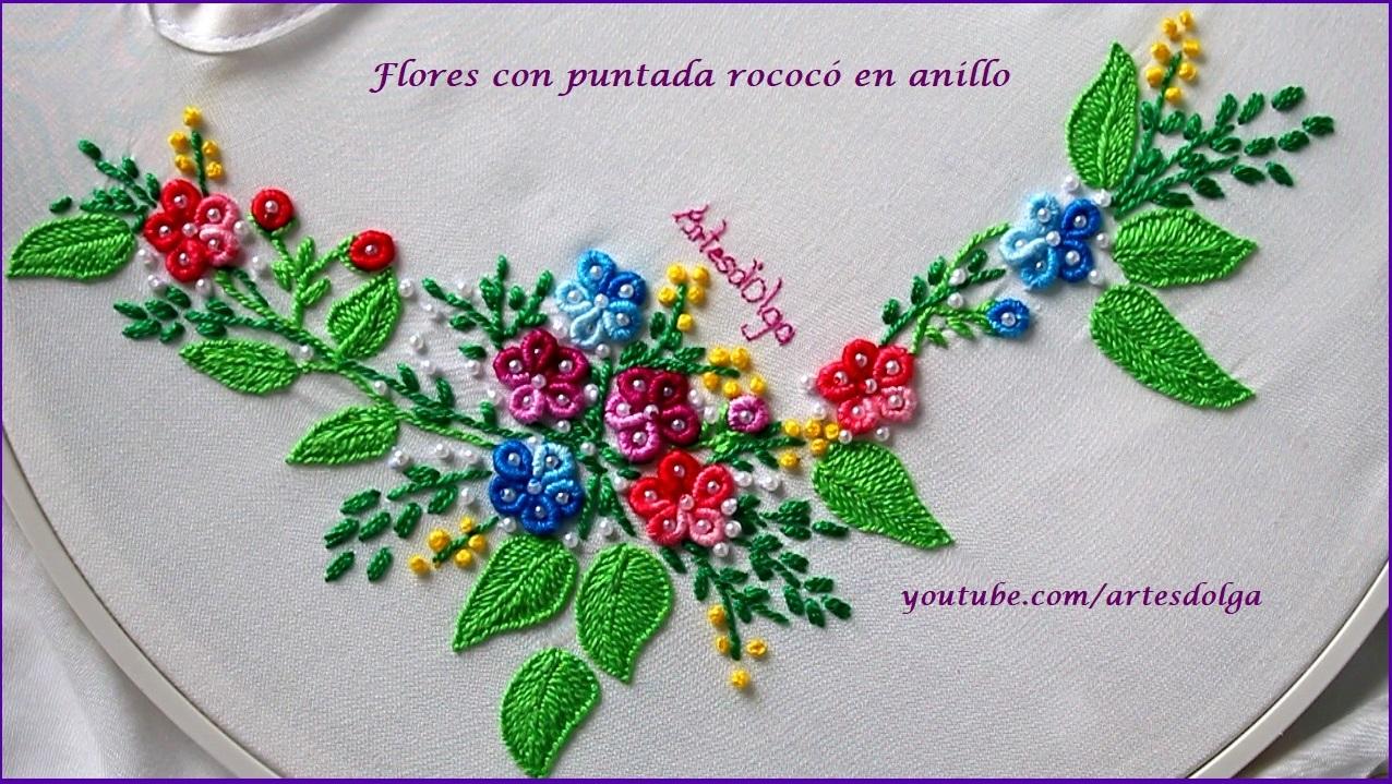 Artesd\'Olga: Flores con puntada rococó en anillo | Ring Bullion ...