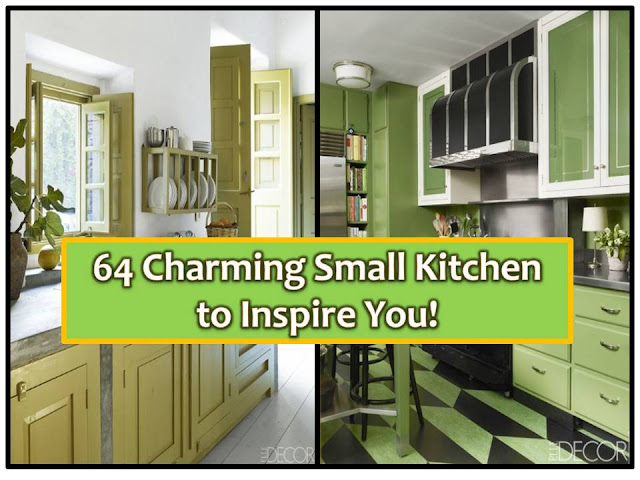 Be inspired by these 64 small kitchens with charming designs! Remember, a properly designed small kitchen needs to be clutter-free to be efficient, not only for its physical appearance but also for the people who use it. Here are some ideas if you are considering to have kitchen repair or make-over.