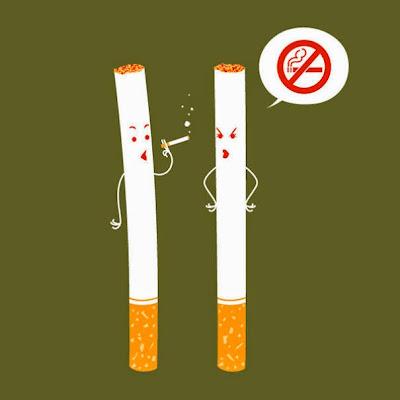cigarro prohibido es peligroso para la salud de los humanos