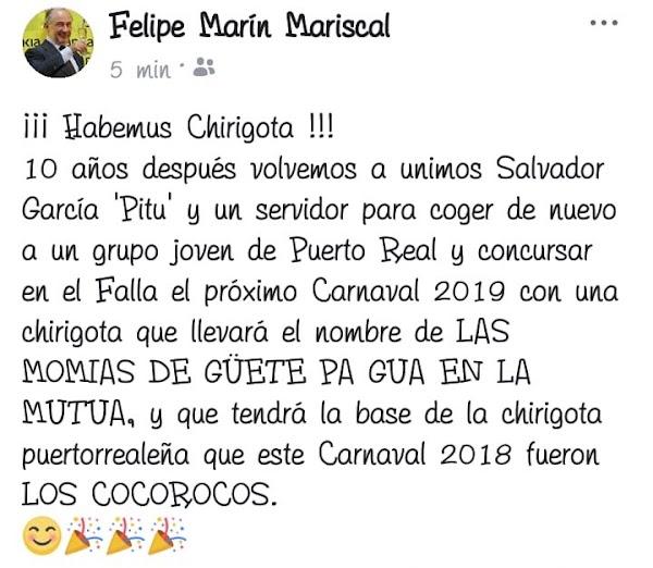 Nueva agrupación procedente de Puerto Real para el COAC 2019