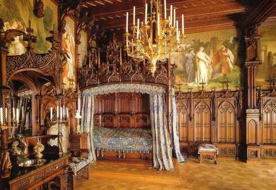 Dormitorio del Neuschwanstein
