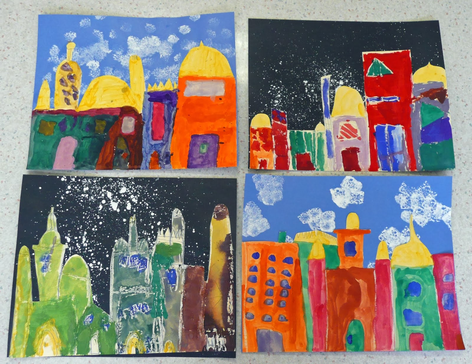 That Artist Woman Pastel Resist Night Skyline