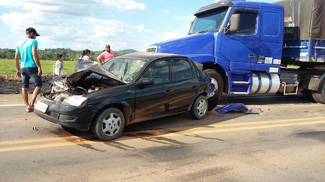 Fumaça de queimada causa acidente entre brutal envolvendo 6 veículos na BR 364