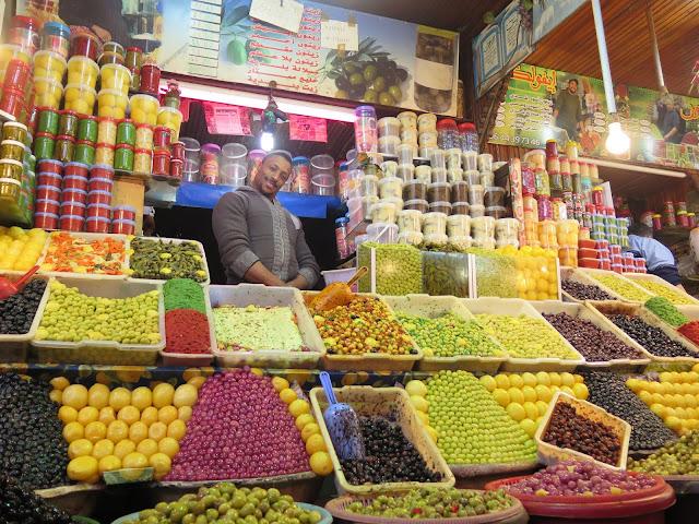 Mercado de la Plaza El Hedim Meknes