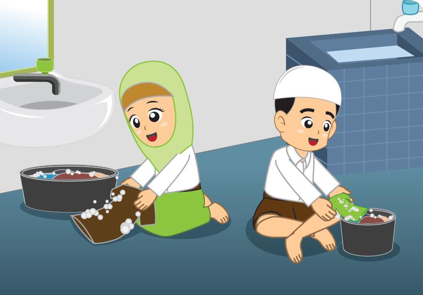Nasihat Nabi -Yang Wajib Mencuci Pakaian di Rumah itu Para