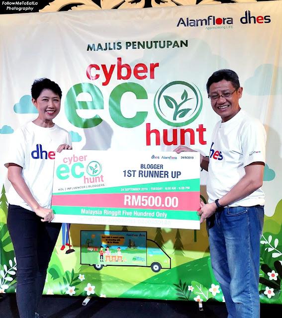 Cyber Eco Hunt 2019 - Blogger 1st Runner Up