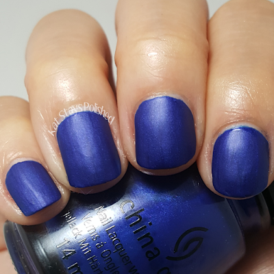 China Glaze Rebel Collection 2016 - Combat Blue-Ts | Kat Stays Polished