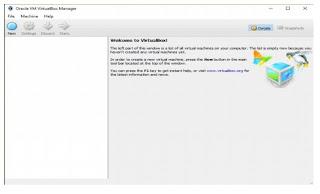 Tampilan Aplikasi Virtual Box yang sudah selesai di instal
