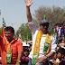 *बाड़मेर। सन्नी देओल का कैलाश चौधरी के समर्थन में रोड शौ