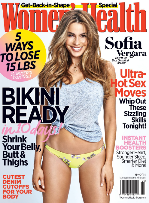 Sofia Vergara is the cover girl in Women's Health USA - May 2014