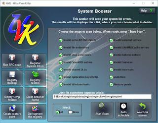 تنزيل برنامج ازالة الفيروسات من الكمبيوتر Ultra Virus Killer