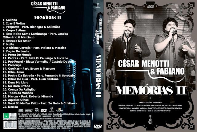 Capa DVD César Menotti & Fabiano Memórias II