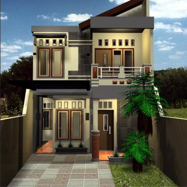 Model Rumah Minimalis 2 Lantai Type 36 Tampak Depan Full Woods