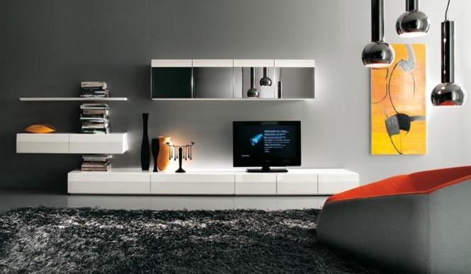 Gambar Desain Interior Minimalis Rak TVTelevisi