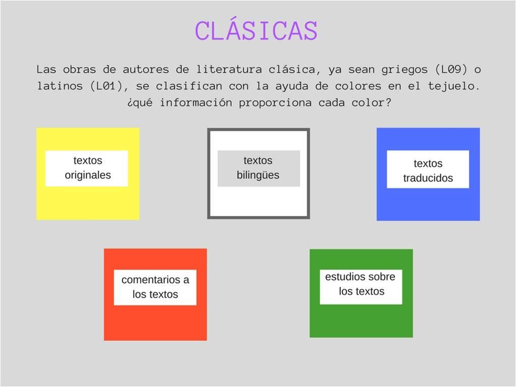 Blogueando por la Nebri: En Clásicas, los colores informan