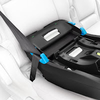 Clek Liing car seat installation, metal load leg on the base prevents rotation and absorbs energy