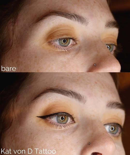 kat von d tattoo applied on eye