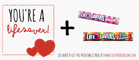 graphic about You're a Lifesaver Printable named Southern Within Regulation: My Punny Valentine: 40+ Punny Valentines