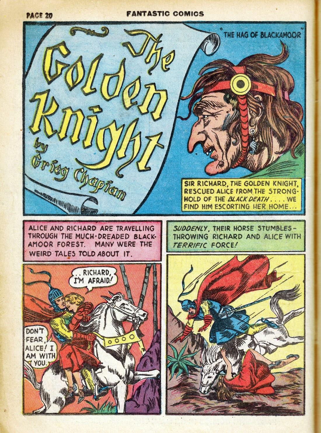 Read online Fantastic Comics comic -  Issue #7 - 22