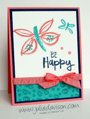 Stampin' Up! Paint Play Butterfly Card #GDP101 ~ www.juliedavison.com