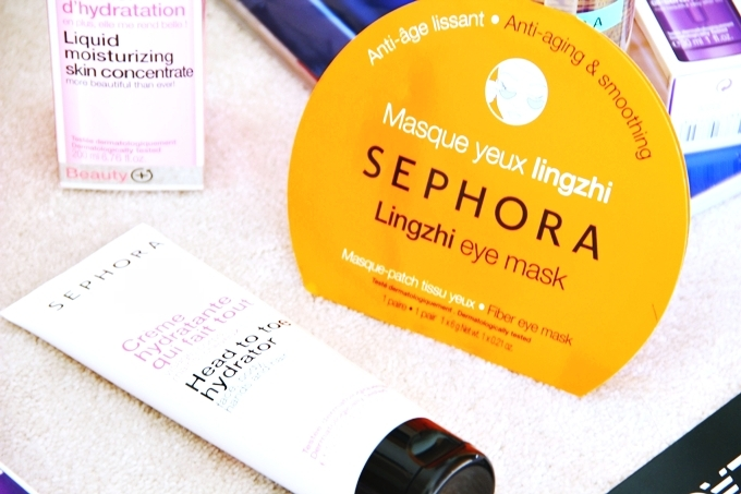 "Sephora ""Head to toe hydrator"".Sephora ""Lingzhi eye mask""."