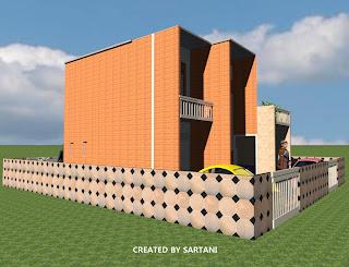 berbagi contoh desain rumah: rumah minimalis 2 lantai