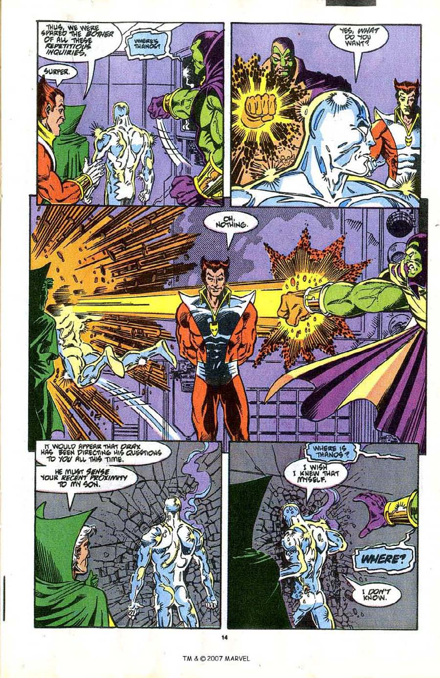Read online Silver Surfer (1987) comic -  Issue #37 - 17