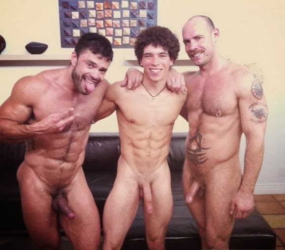 Naked men having fun