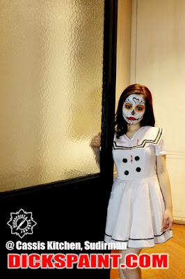 make up horror sugar skull jakarta