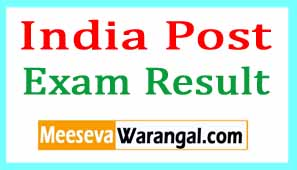 India Post Results 2017 Postal Asst, Sorting Asst Exam Results